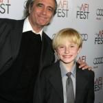 Joe Dante with Nathan Gamble at a premiere