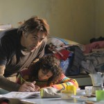 Bardem helping his daughter