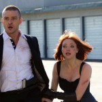 Actors Timberlake and Seifried run in the movie In Time