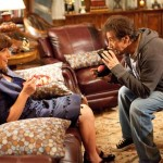 Adam Sandler as Jill with actor Al Pacino in Jack and Jill