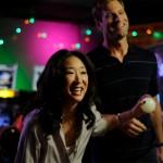 Sandra Oh and Aaron Ekhart bond