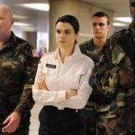 Three guards… really? Wow, actor Rachel Weisz must be dangerous