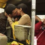Arunoday Singh and Aditi Rao kissing