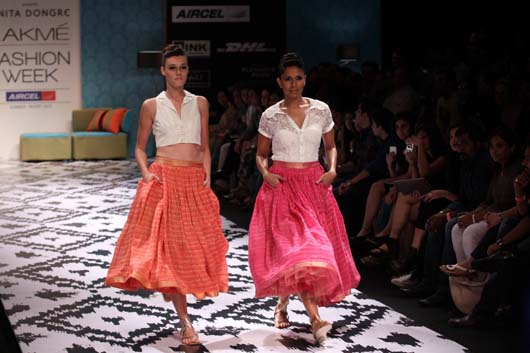 Orange and Pink Full Skirts