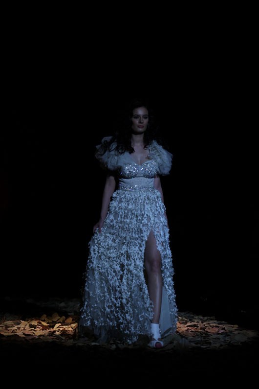 White Bridal Gown at Lakme Fashion Show