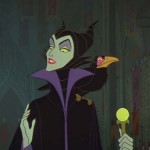 The animated Maleficent from Sleeping Beauty