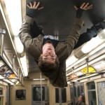 Upside down in the subway