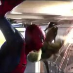 Spidey and Lizard battling it out