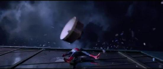 Devastation in Spider Man Movie