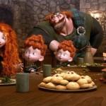 Family dinner in the movie Brave