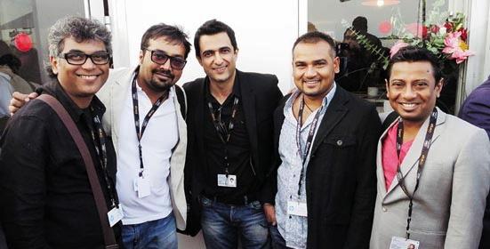 Suman Mukhopadhyay, Anurag Kashyap, Sanjay Suri, Nila Madhab Panda and Onir