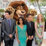 The voice cast of Madagascar 3: Short, Schwimmer, Smith, Stiller, Chastain, Rock