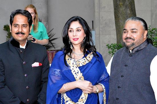 Maharaj Narendra Kumar, HRH Princess Diya Kumari and Fashion Icon JJ Valaya