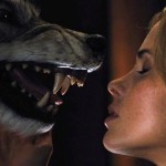 Making out with a wolf. This isn't Twilight!