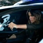 Kate Beckinsale trying to be vicious in Total Recall