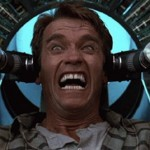 Arnold Schwarzenegger in the original Total Recall