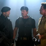 Statham, Stallone and Schwarzenegger in The Expendables 2