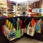 Funky cloth bags at Eco Corner