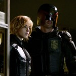 Olivia Thirlby and Karl Urban in Dredd 3D