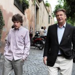 Actors Jesse Eisenberg and Alec Baldwin in the movie To Rome With Love