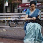 Sridevi as Shashi has a moment in the film English Vinglish
