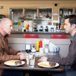 Old and Young Joe: Bruce Willis and Joseph Gordon-Levitt in Looper