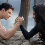 Kellan Lutz and Kristen Stewart in Breaking Dawn Part 2. Guess who wins?