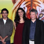 The cast and director Ang Lee of the movie Life of Pi
