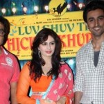 Producer Anurag Kashyap and actors Huma Qureshi and Kunal Kapoor promoting Luv Shuv Tey Chiken Khurana