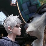Jack Frost (Chris Pine) faces off with Easter Bunny (Hugh Jackman) in Rise of the Guardians