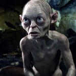 Andy Serkis as the Gollum in a fun and dark scene in The Hobbit
