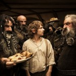 Bilbo Baggins and the dwarves in The Hobbit