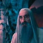Christopher Lee looking quite tired in The Hobbit
