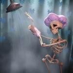 Bathing Skeleton has her bones shaken in Hotel Transylvania