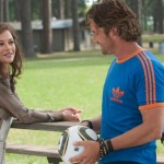 Hitting ont he coach. Catherine Zeta-Jones and Gerard Butler in Playing for Keeps