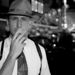 B/W promotional image of Ryan Gosling from Gangster Squad