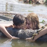 Tom Holland and Naomi Watts share a moment in The Impossible