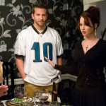 Bradley Cooper and Jennifer Lawrence with Julia Stiles in Silver Linings Playbook