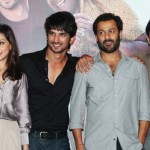 Amrita Puri, Sushant Singh Rajput, Abhishek Kapoor and Amit Sadh at the trailer launch of Kai Po Che