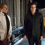 Steve Carell and real life magician David Copperfield on the sets of The Incredible Burt Wonderstone