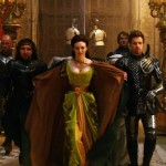 Eleanor Tomlinson flanked by Eddie Marson (L) and Ewan McGregor (R) in Jack The Giant Slayer