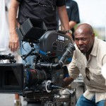 Director Antoine Fuqua on the set of Olympus Has Fallen