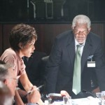 Angela Bassett and Morgan Freeman support excellently in Olympus Has Fallen