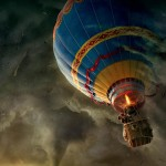 Oz the Great and Powerful air balloon scene