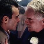 Joaquin Phoenix and Philip Seymour Hoffman in The Master
