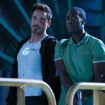 Robert Downey Jr and Don Cheadle in Iron Man 3