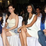 Nautanki Saala Music Launch with some sizzling stars: L-R Pooja Salvi, Evelyn Sharma, Gaelyn Mendonca, Neeti Mohan
