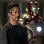 Tony Stark and robo-Iron Man in Iron Man 3