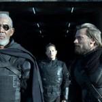 Morgan Freeman and Nikolaj Coster-Waldau in Oblivion