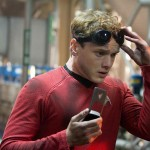 Anton Yelchin as acting Chief of Engineering Mr Chekov in Star Trek Into Darkness